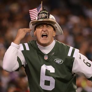 "New York Jets superfan ""Fireman Ed"" Anzalone is shown in 2012."
