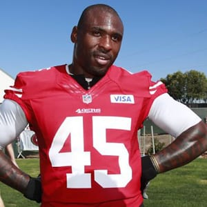Running back Brandon Jacobs is shown as a member of the San Francisco 49ers in 2012.