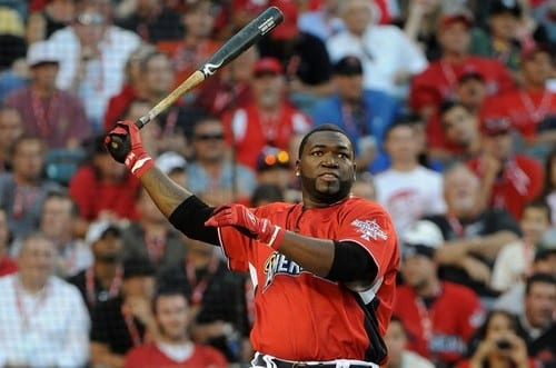 ANAHEIM, CA - JULY 12:  American League All-Star David Ortiz #34 of the Boston Red Sox at bat during the fianl round of the 2010 State Farm Home Run Derby during All-Star Weekend at Angel Stadium of Anaheim on July 12, 2010 in Anaheim, California.  (Photo by Lisa Blumenfeld/Getty Images)